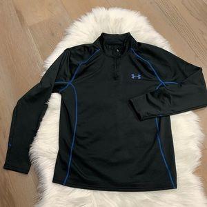 Under Armour black pullover blue detail Sz Large